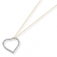 14k Diamond Fascination 18in Large Heart Necklace