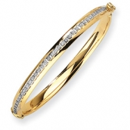 14k Diamond Fascination Hinged Baby Bangle