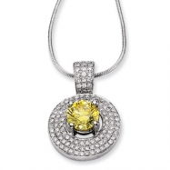 14kw Emma Grace Round Cultured Diamond 16in Pendant