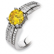 14kw Emma Grace Round Cultured Diamond Ring