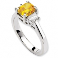 14kw Emma Grace Radiant Cultured Diamond Ring