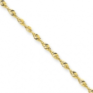 10k 1.8mm D/C Extra-Lite Rope Chain anklet