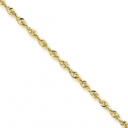 10k 2.0mm D/C Extra-Lite Rope Chain anklet