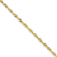 10k 2.25mm D/C Extra-Lite Rope Chain anklet