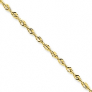 10k 2.55mm D/C Extra-Lite Rope Chain anklet