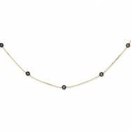 14K Peacock Freshwater Cultured Pearl Necklace chain