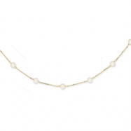14K Cultured Pearl Necklace chain