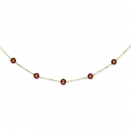 14K Chocolate Cultured Pearl Necklace chain