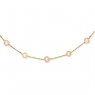 14K Natural Color Cultured Pearl Necklace chain