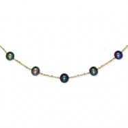 14K Peacock Cultured Pearl Necklace chain