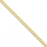 10k 4.3mm Semi-Solid Curb Link Chain