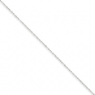10k White Gold .8mm Polished Lite Baby Rope Chain