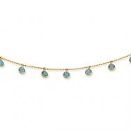 14K Blue Topaz Necklace chain