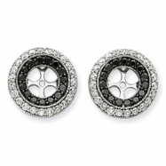 14k White Gold Black & White Diamond Earring Jackets