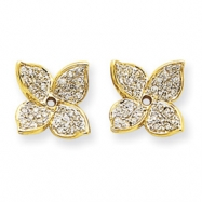 14K Diamond Earring Jacket