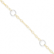14k Two-Tone Adjustable Circle Anklet