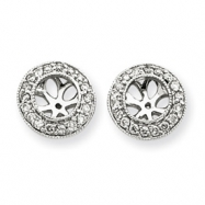 14k White Gold White Diamond Earring Jackets