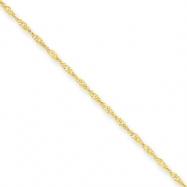 10k 1.10mm Singapore Chain bracelet