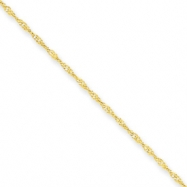 10k 1.10mm Singapore Chain anklet
