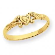 14k Heart Baby Ring