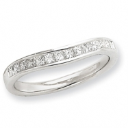 14k White Gold AA Diamond Band Ring
