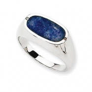 14K White Gold Blue Aventurine Diamond Ring