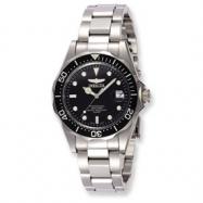 Mens Invicta Pro Diver Quartz Black Dial Watch