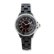 Mens Chisel Black Ceramic/Black Dial Watch