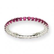 14K White Gold Ruby ring