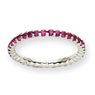 14K White Gold Ruby ring bracelet