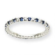 14k White Gold Dia / Sapphire ring