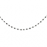 Black Diamond Briolette Necklace chain