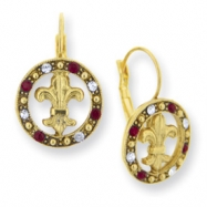 Gold-tone Blessed Flower of the Lily Earrings