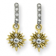 Gold-tone & Silver-tone Crystal Cross Drop Earrings