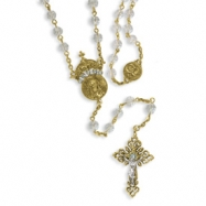 Gold-tone Crystal 30in Wedding Rosary