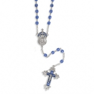 Silver-tone King of Kings Crucifix 28in Rosary