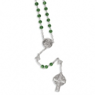 Silver-tone Celtic Crucifix 28in Rosary