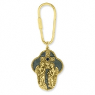 Gold-tone Angel Cross Key Fob