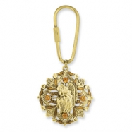 Gold-tone Guardian Angel Key Fob