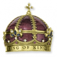 Gold-tone King of KingsCrown Rosary Box