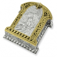 Gold-tone & Silver-tone Holy Family Rosary Box