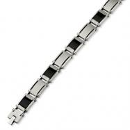 Stainless Steel Carbon Fiber & Link Bracelet anklet