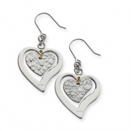 Stainless Steel Heart Dangle Earrings