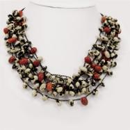 Black Cow Bean & Colorin Bean Spongie Necklace