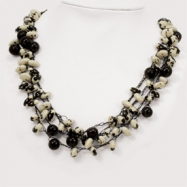 Black Cow Bean & Jojoba Seed Spongie Necklace