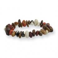 Assorted Bean Stretch Bracelet