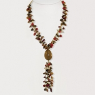 Assorted Bean & Baru Seed Necklace