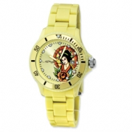 Ladies Ed Hardy VIP Light Yellow Watch