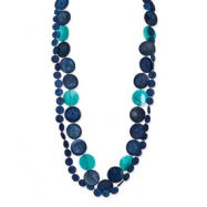 Coconut, FW Clam Shell & Acrylic Bead Slip-on Necklace