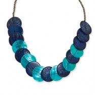 Coconut, FW Clam Shell & Acrylic Bead Necklace